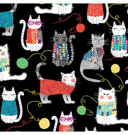 Kanvas Knit Together - Cats Black