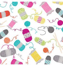 Kanvas Knit Together - Knitting Notions White