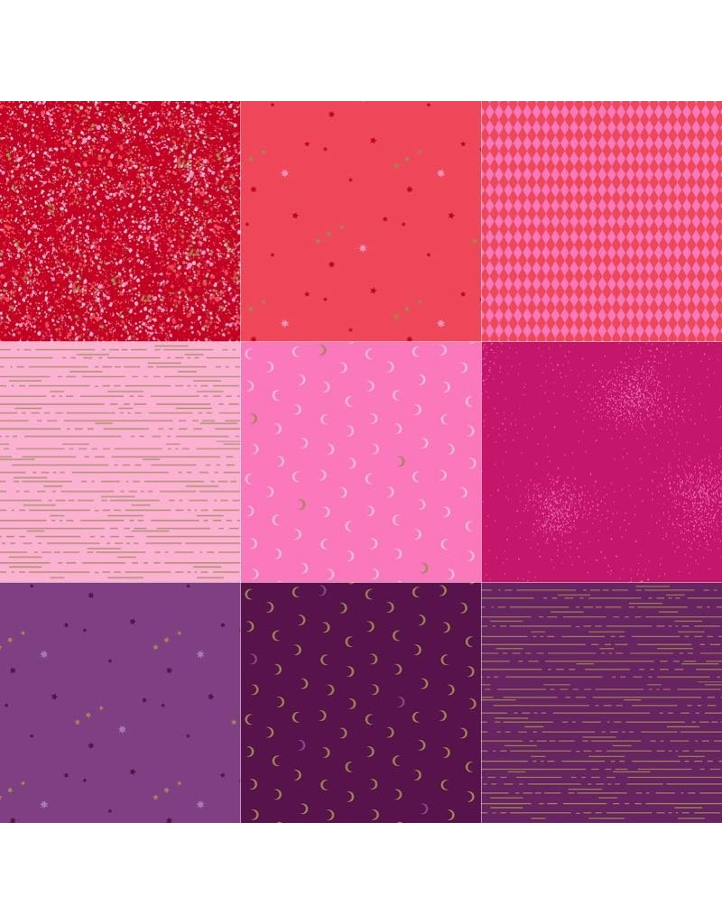 Andover Greatest Hits Vol 1 - Fat Quarter Pakket - Rood/Roze/Paars