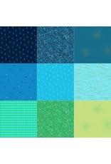 Andover Greatest Hits Vol 1 - Fat Quarter Pakket - Blauw/Groen