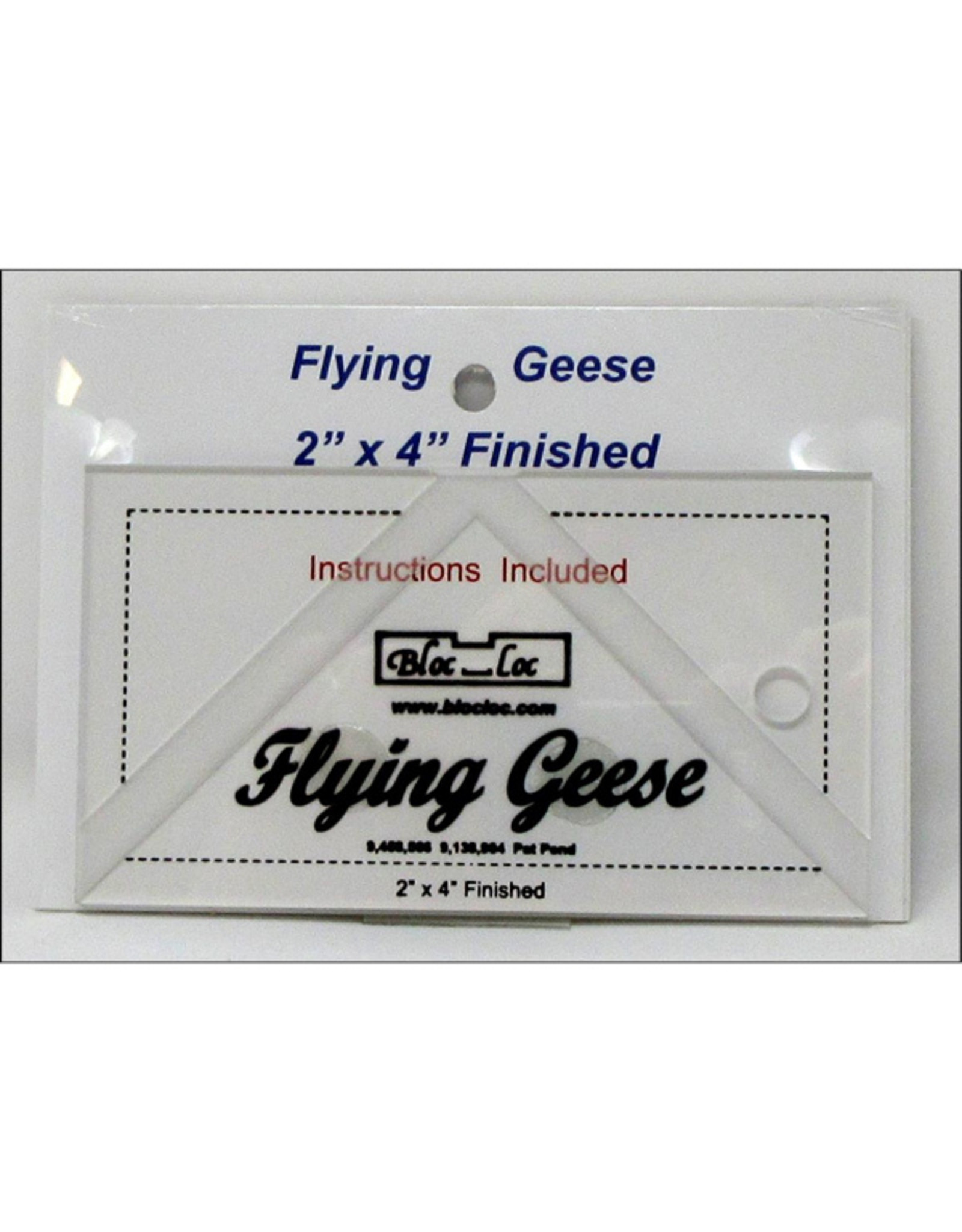 Bloc Loc Flying Geese Square Up Ruler - 2 x 4 inch