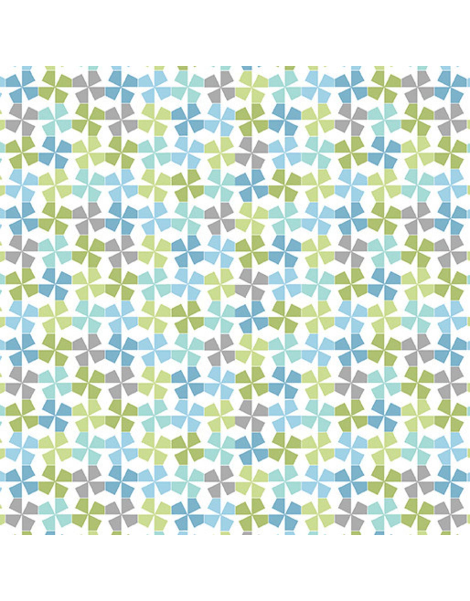 Contempo My Little Sunshine 2 - Pinwheels Turquoise