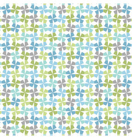 Contempo My Little Sunshine 2 - Pinwheels Turquoise