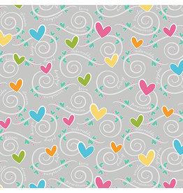 Contempo My Little Sunshine 2 - Hearts and Swirls Gray
