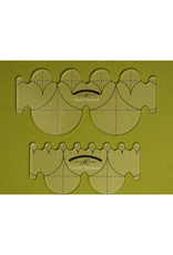 Amanda Murphy - Good Measure Quilting Template - Every Clamshell Set