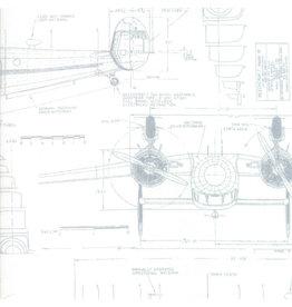 Moda Modern Backgrounds - Aircraft White