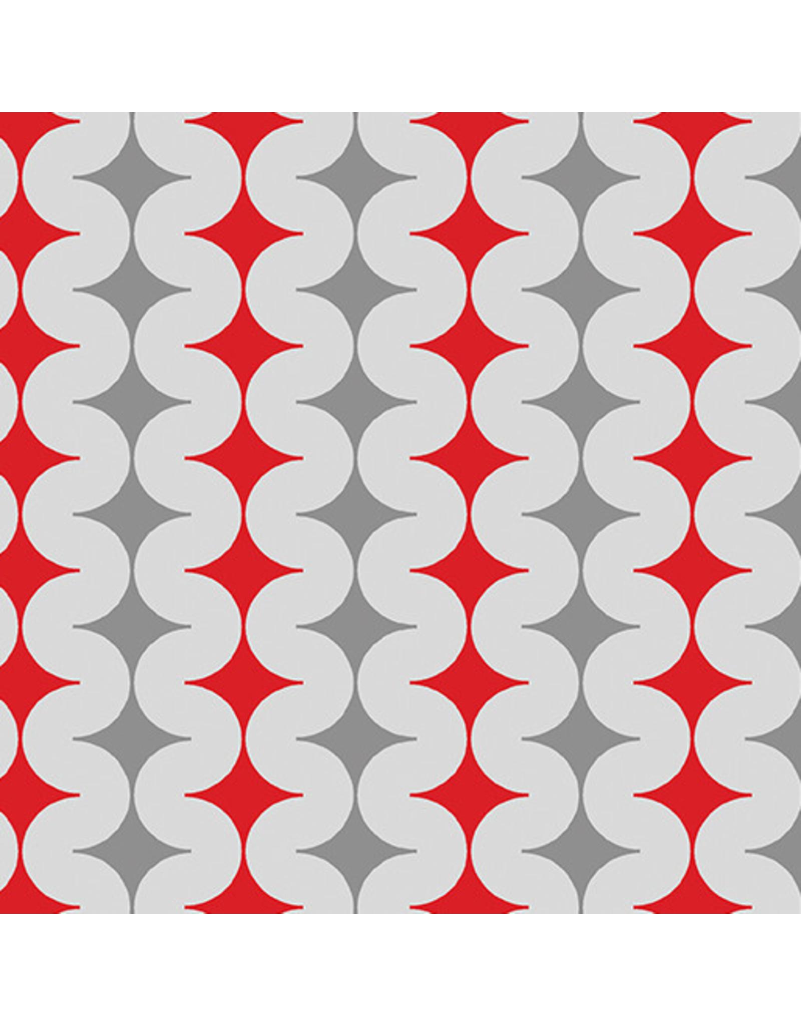 Contempo Geo Pop - Diamond Pop Gray/Red