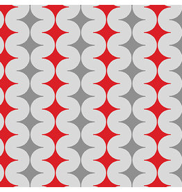 Contempo Geo Pop - Diamond Pop Gray/Red