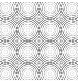 Contempo Geo Pop - Mosaic Dots White/Gray