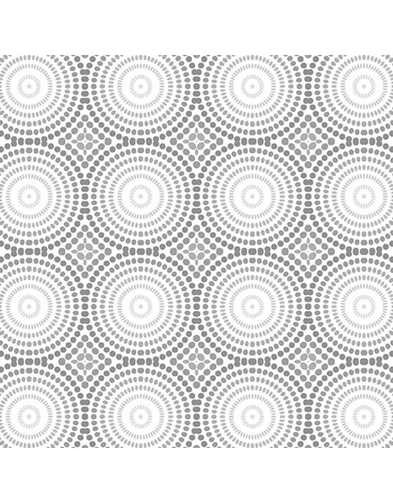 Contempo Geo Pop - Mosaic Dots White/Gray