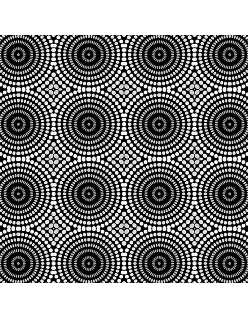 Contempo Geo Pop - Mosaic Dots Black/Gray