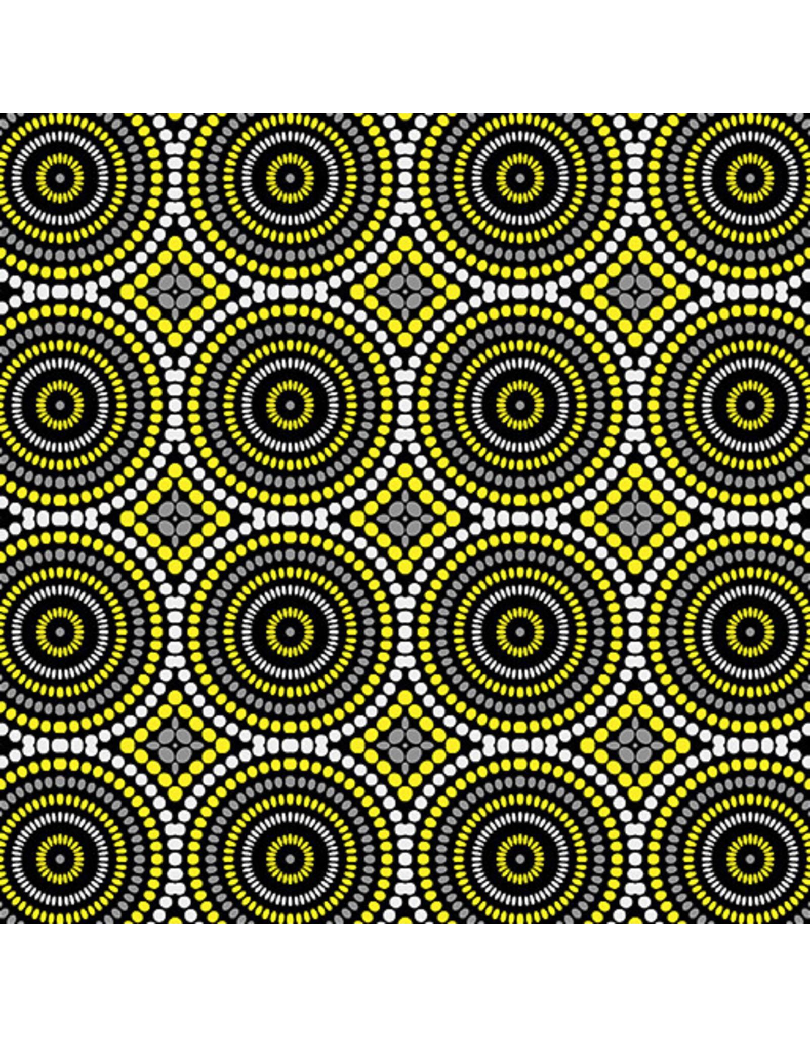 Contempo Geo Pop - Mosaic Dots Gray/Yellow