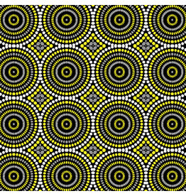 Contempo Geo Pop - Mosaic Dots Gray/Yellow