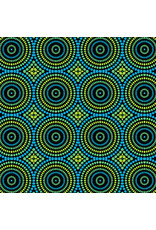 Contempo Geo Pop - Mosaic Dots Blue/Green