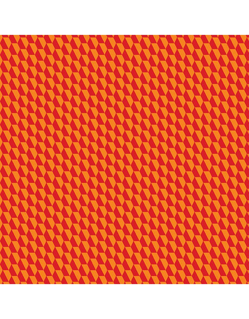 Contempo Geo Pop - Tiny Hex Red/Orange