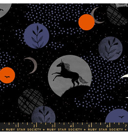 Ruby Star Society Crescent - Unicorn Moon Black