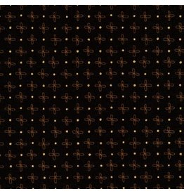 Robert Kaufman Wayside - Flower Dot Black