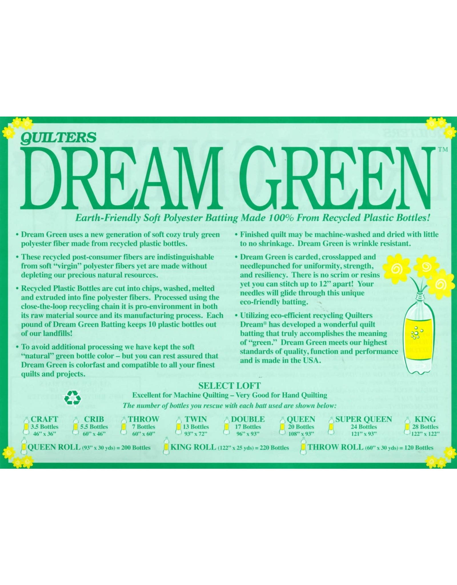 Quilters Dream Quilters Dream Green