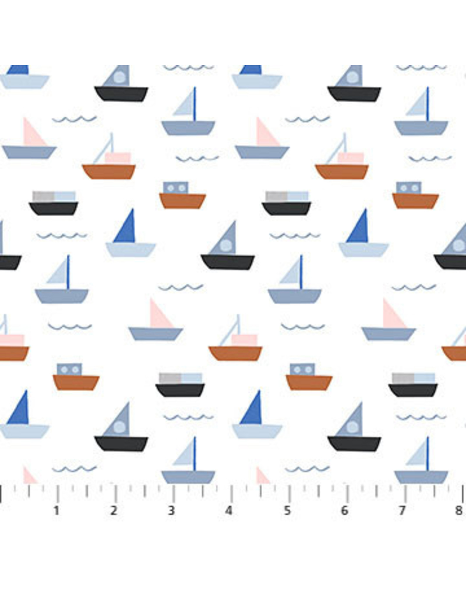 Figo Moonlit Voyage - Boats in White