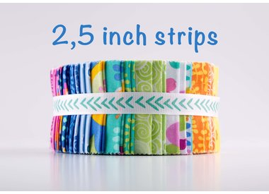 2,5 inch strips (Jelly Roll)