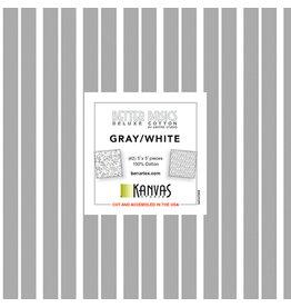 Better Basics - Gray / White - 5 x 5 pack