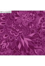 Contempo Jubilee Silver - Floral Plum