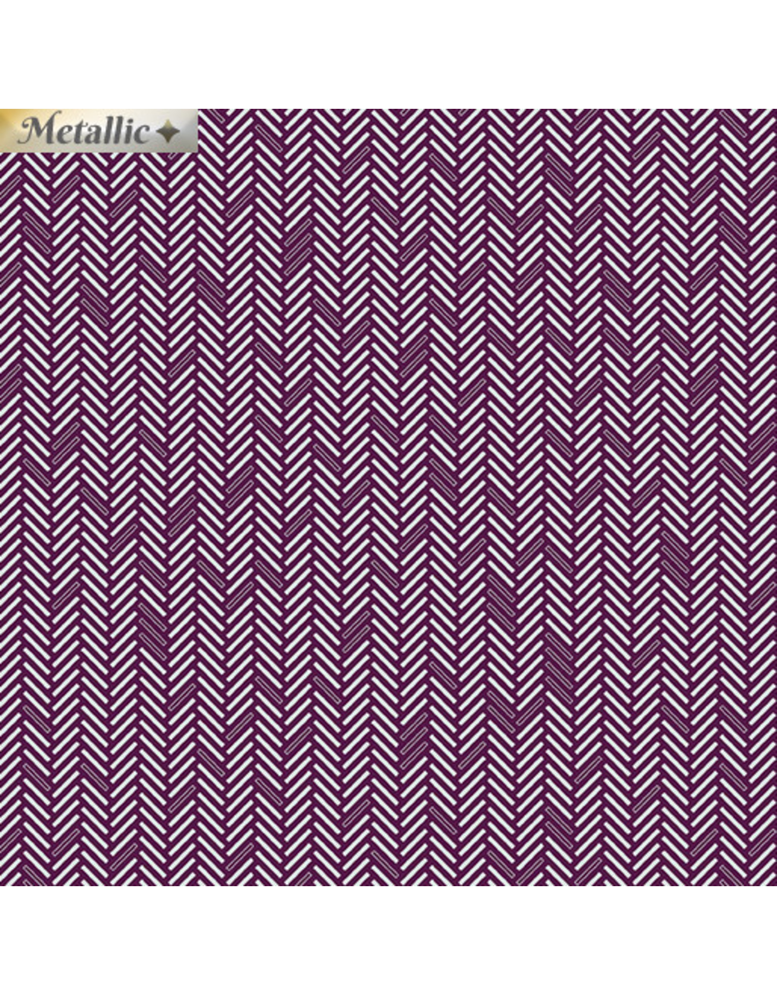 Contempo Jubilee Silver - Herringbone Plum
