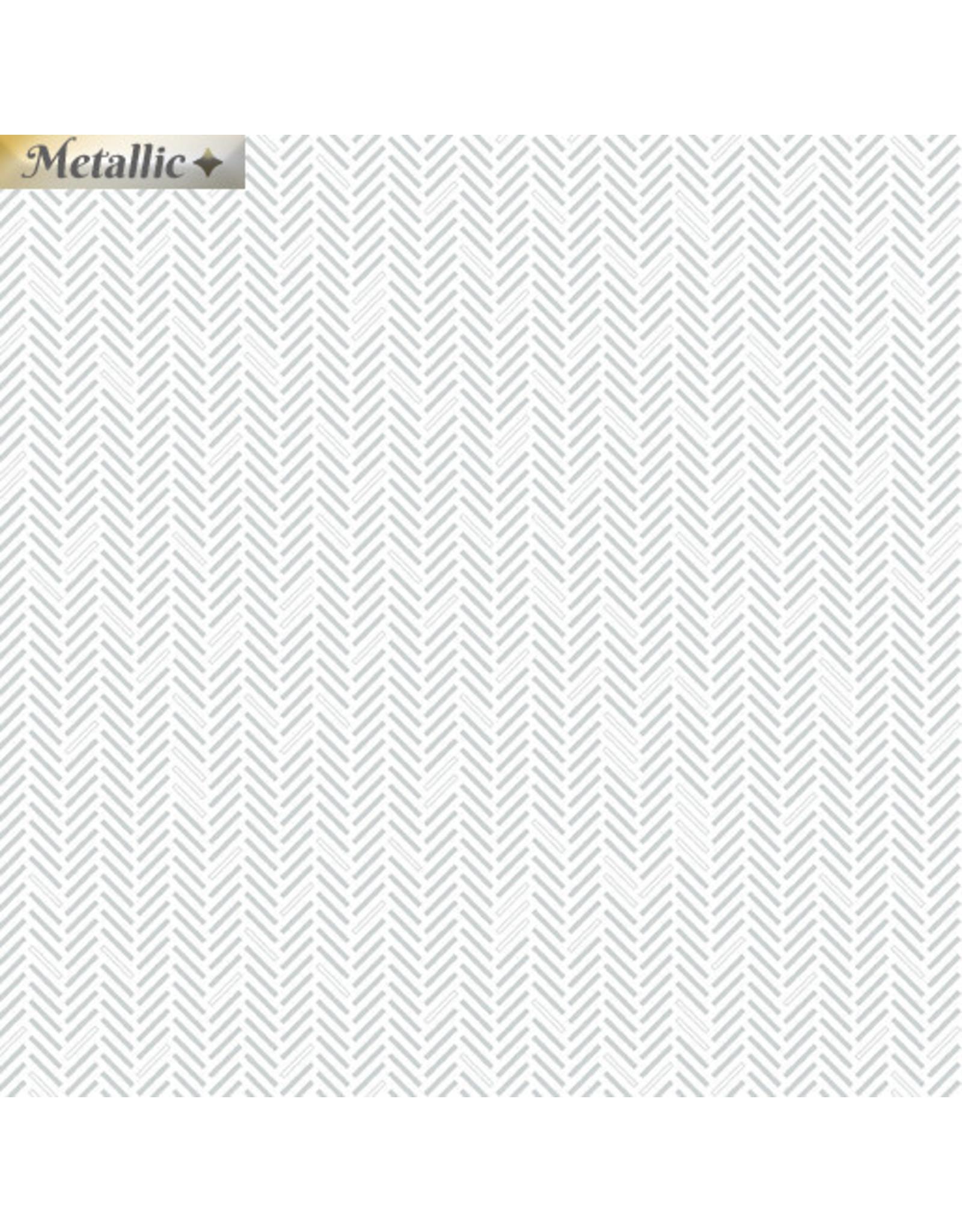 Contempo Jubilee Silver - Herringbone Silver