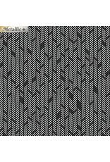 Contempo Jubilee Silver - Herringbone Black