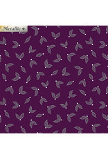 Contempo Jubilee Silver - Little Leaves Plum