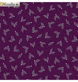 Contempo Jubilee Silver - Little Leaves Plum