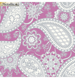 Contempo Jubilee Silver - Paisley Magenta