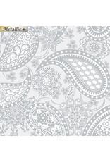 Contempo Jubilee Silver - Paisley Silver