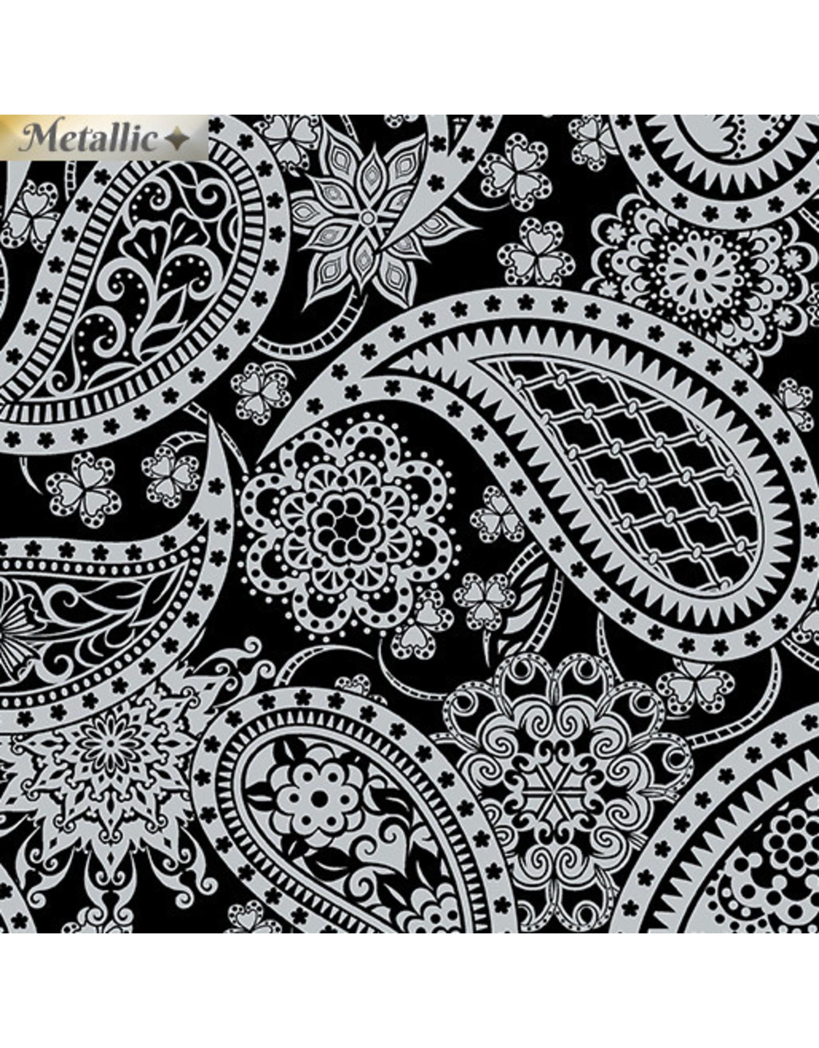 Contempo Jubilee Silver - Paisley Black