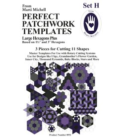 Marti Michell Set H - Large Hexagons Plus - Perfect Patchwork Templates