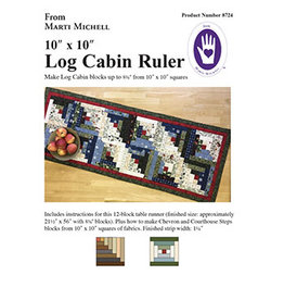 Marti Michell Log Cabin Ruler - 10 x 10 inch precut squares
