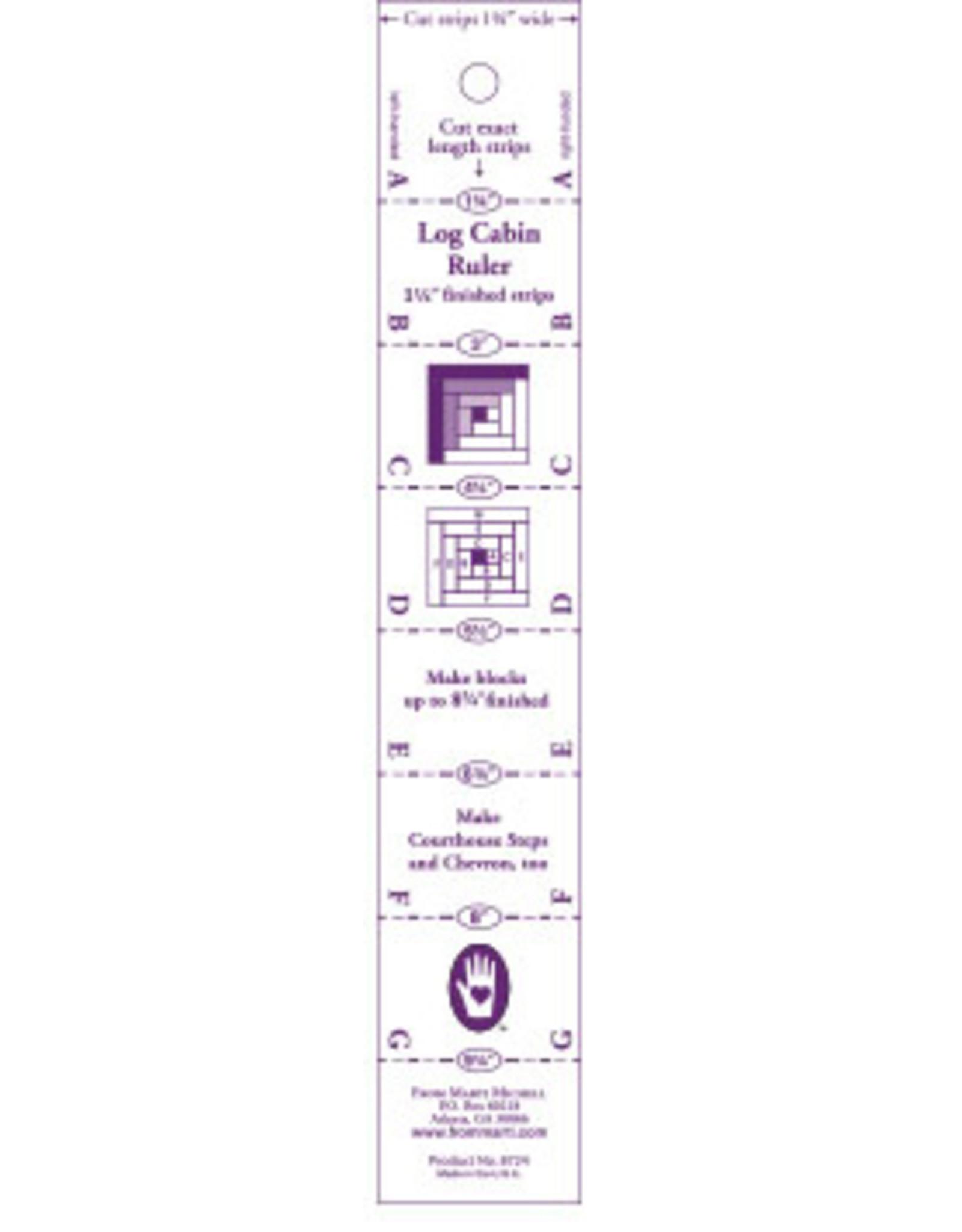 Log Cabin Ruler - 10 x 10 inch precut squares