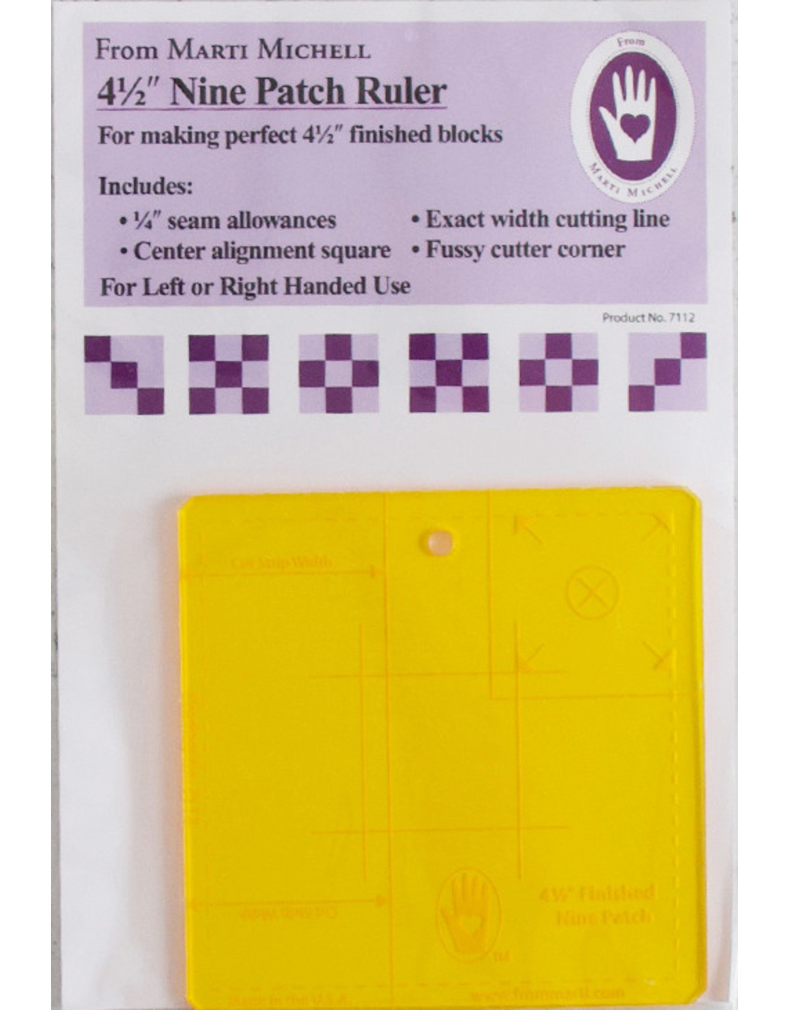 Marti Michell 4,5 inch Nine Patch Ruler