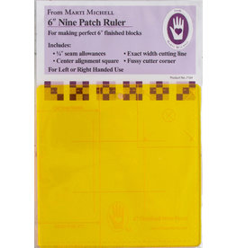 Marti Michell 6 inch Nine Patch Ruler