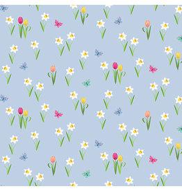 Makower UK Spring - Meadow Blue