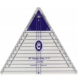 Marti Michell Large Triangle Ruler - 60 graden - 3 - 9 inch