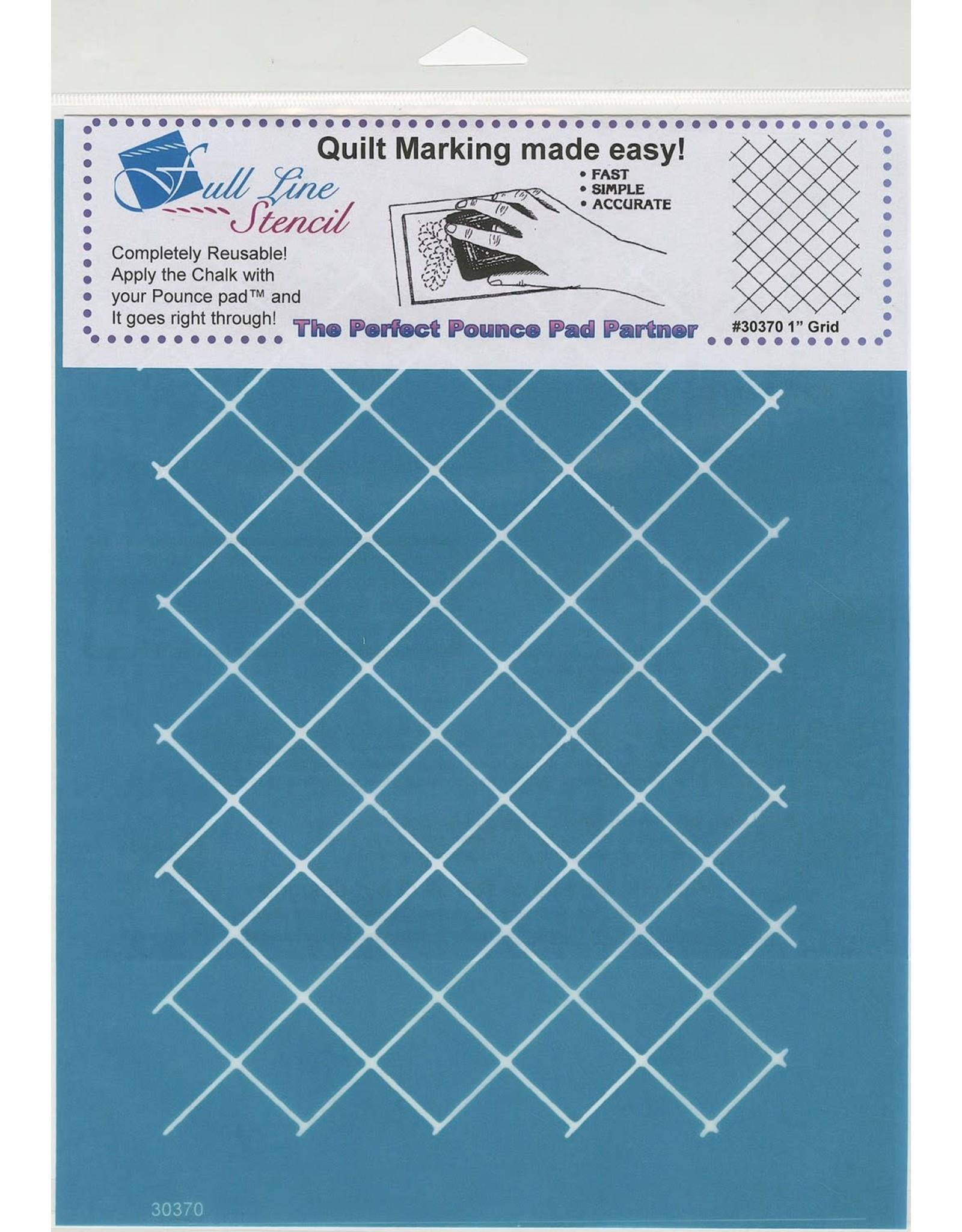 Full Line Stencil - 1 inch grid