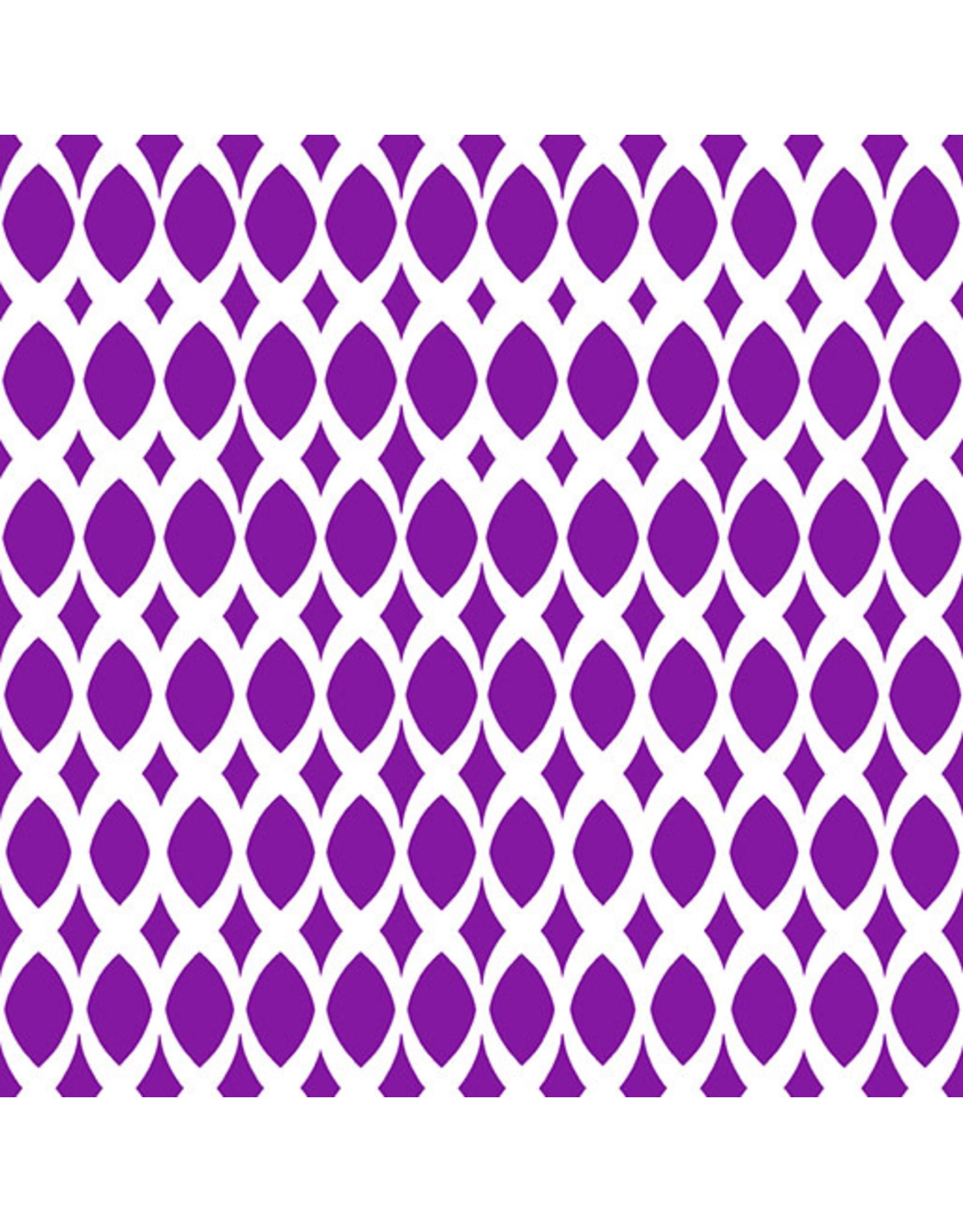 Contempo Gridwork - Diamond Ovals Purple