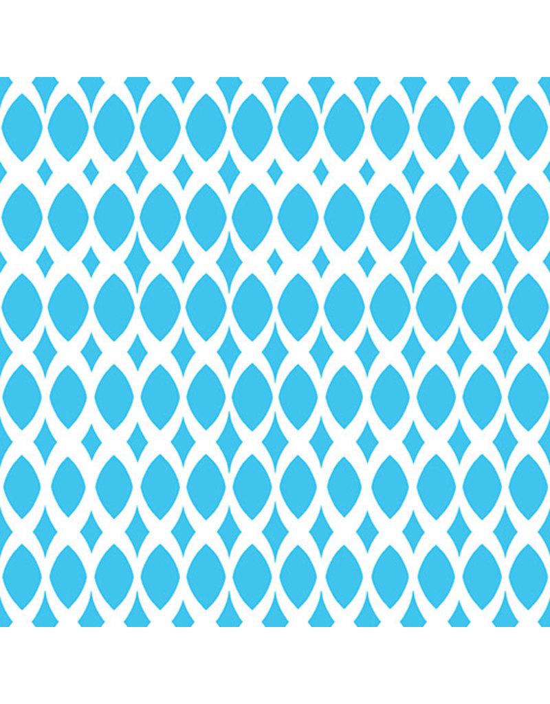 Contempo Gridwork - Diamond Ovals Turquoise