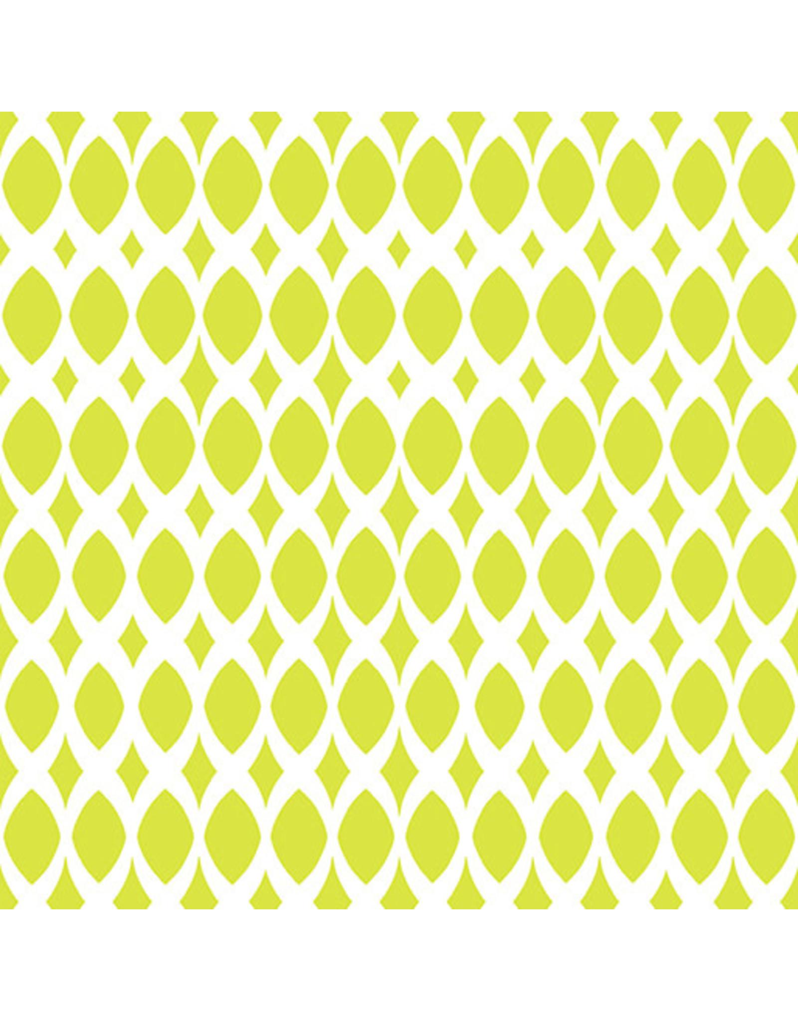 Contempo Gridwork - Diamond Ovals Citron