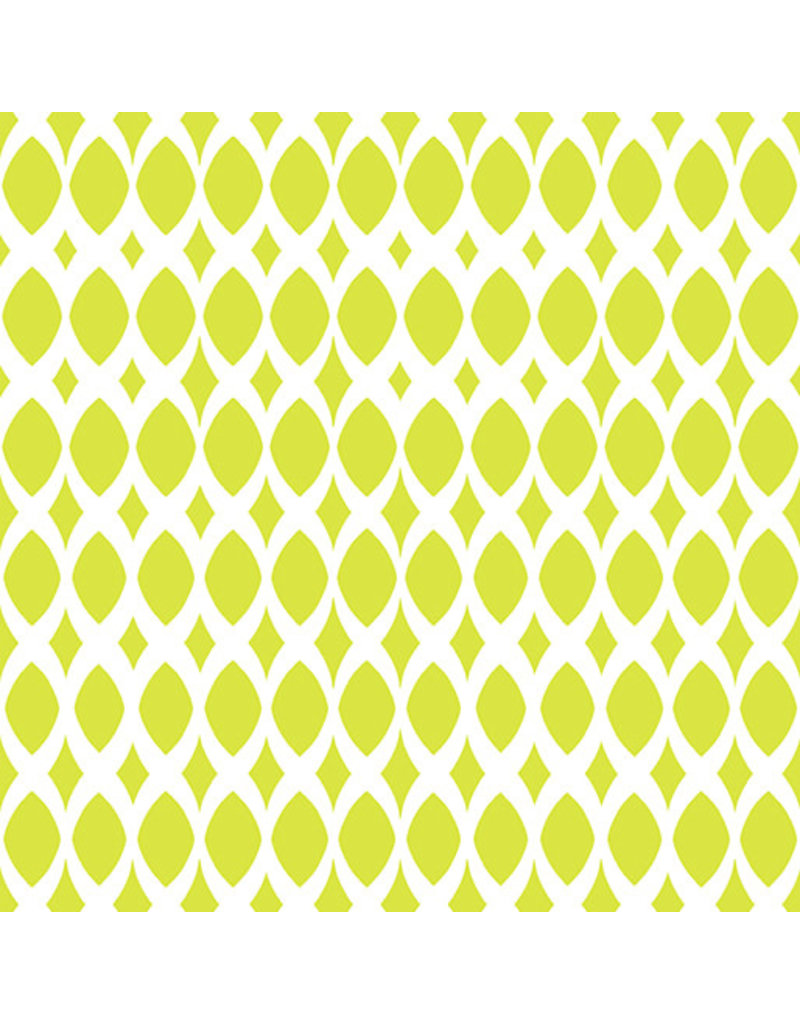 Contempo Gridwork - Diamond Ovals Citron