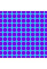 Contempo Gridwork - Circle Grid Grape Blue