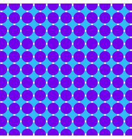 Contempo Gridwork - Circle Grid Grape Blue