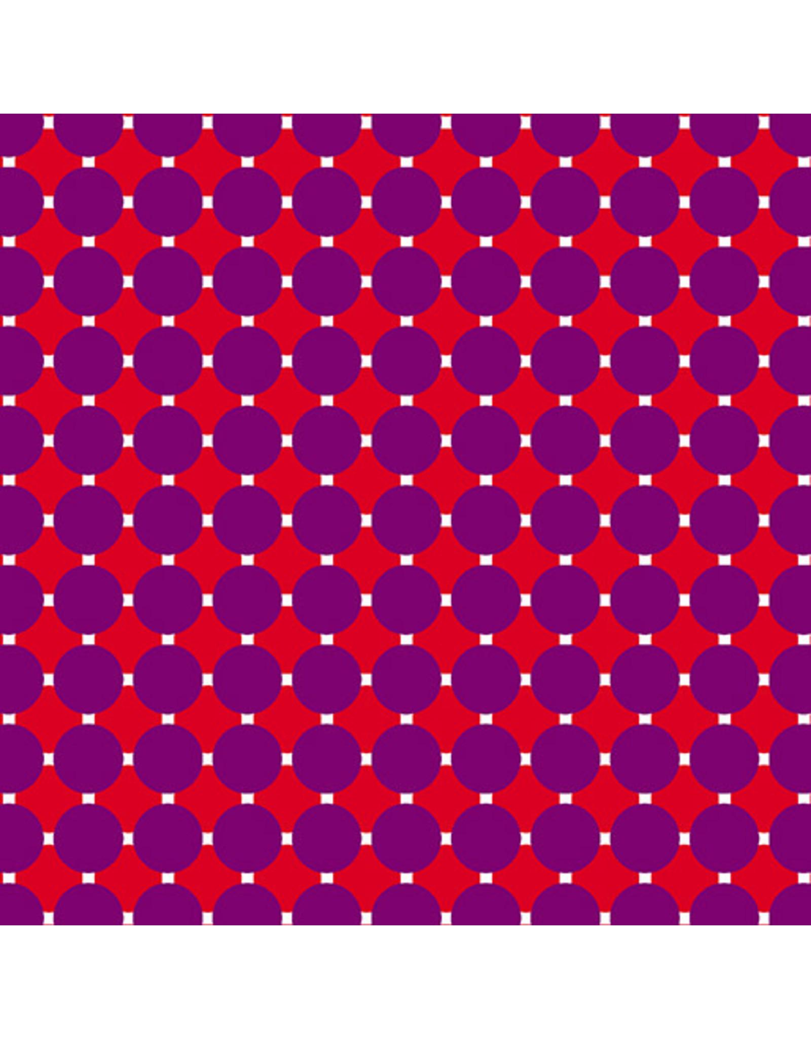 Contempo Gridwork - Circle Grid Purple Red