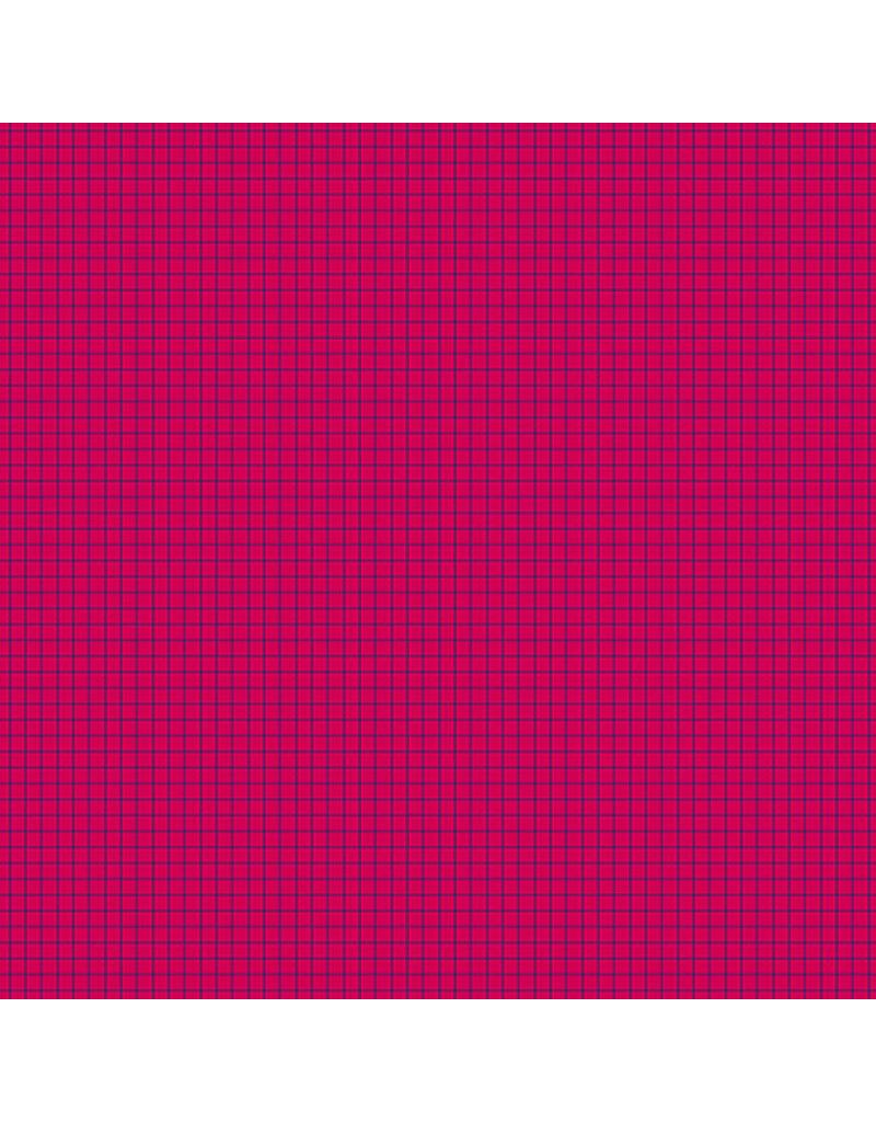 Contempo Gridwork - Square Grid Fuchsia